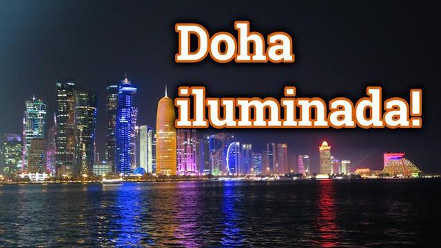 Doha à noite, Qatar
