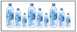 gambar pola barisan botol