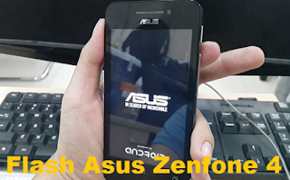 cara flash zenphone 4