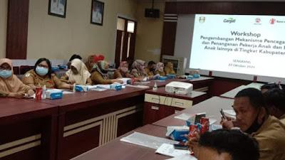 Kerjasama ARUS NGO, Pemkab Wajo Gelar Workshop Pencegahan Pekerja Anak