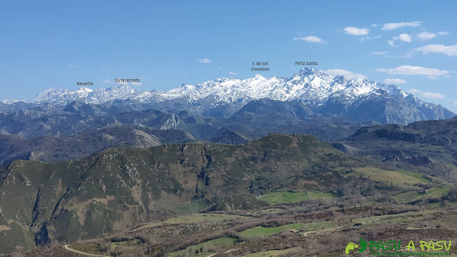 Vista de los Picos de Europa desde el Mirador de Següencu