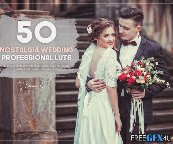 50 Nostalgia Wedding LUTs Pack