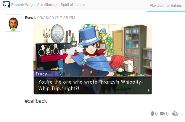 Phoenix Wright Ace Attorney Spirit of Justice Trucy Franzy's Whippity-Whip Trip