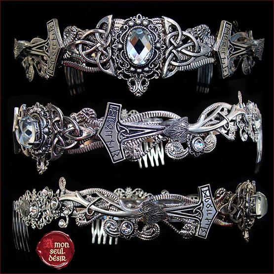 couronne viking marteau de Thor Mjollnir bijoux celtiques