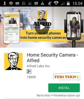 Aplikasi Alfred sebagai cctv di smartphone - Feri Tekno