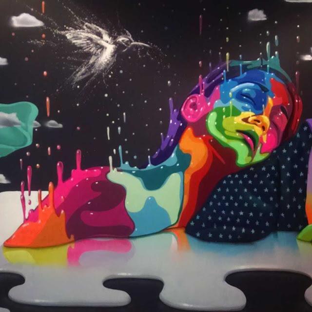 A arte de rua poética e repleta de cores de Dasic Fernández