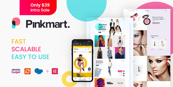 Pinkmart - Multipurpose Ajax WooCommerce WordPress theme