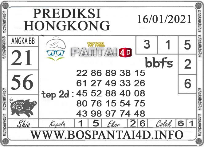 PREDIKSI TOGEL HONGKONG PANTAI4D 16 JANUARI 2021