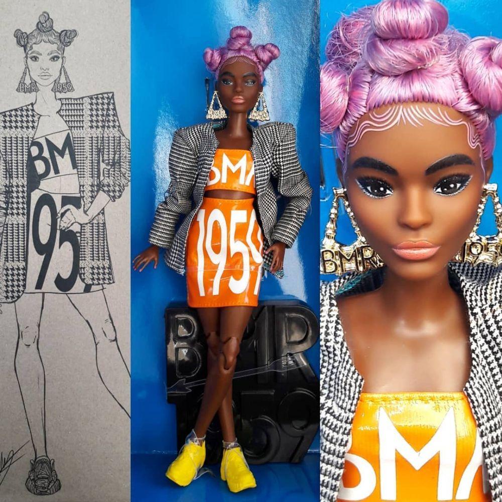 Petite BMR1959 Barbie 2020 with pink hair