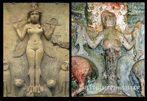 Rígidas y en la misma posición frontal, se muestran ambas, esculturales, bellas e inmutables