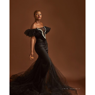 #BBNaija's Alex stunning in black as she hits 1 million followers on Instagram