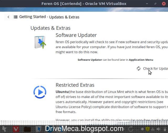 Configuramos feren OS Linux