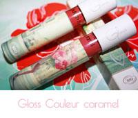 Gloss n°823 Pétale de rose et n°824 Pêche de vigne