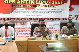 Latpra Ops Antik 2021, Polres Pelabuhan Makassar Siap Ungkap Penyalahgunaan Narkotika