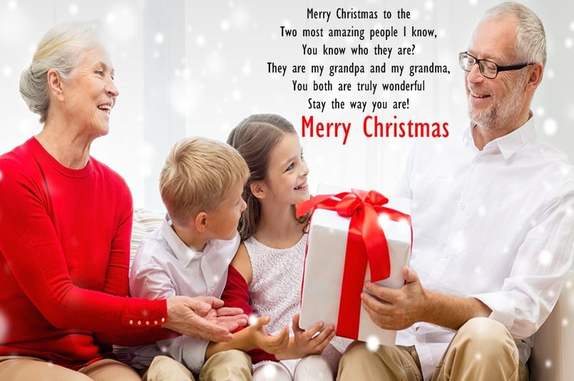 Christmas Wishes for Grandparents with Greeting Image