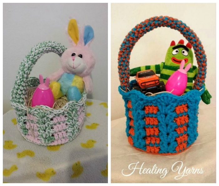 Free Pattern Crochet Easter Basket : My Hobby Is Crochet: Crochet Baskets great for Easter - 2 ...