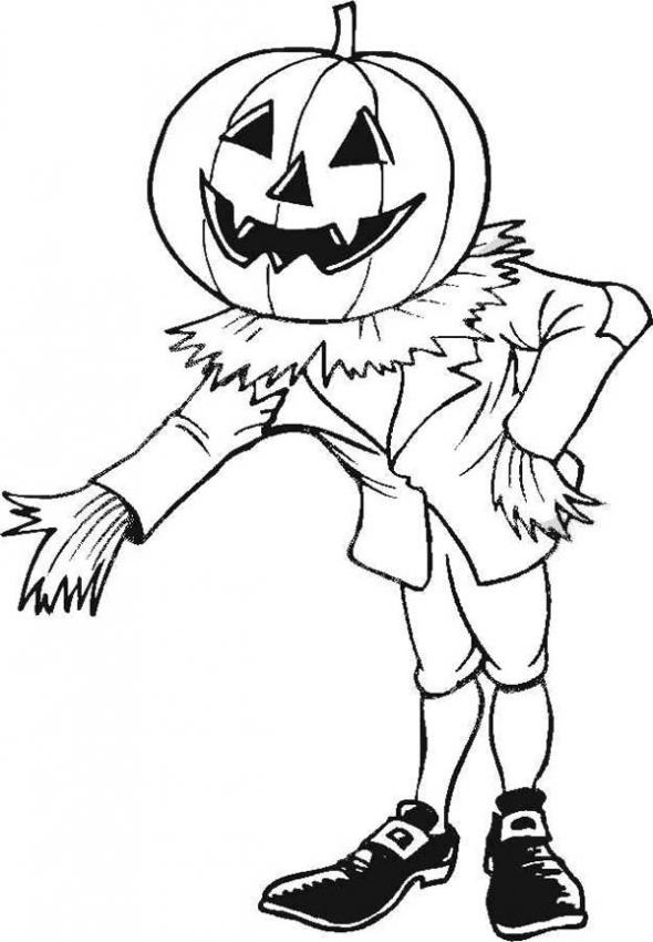 printable scary pumpkin coloring pages - photo#33