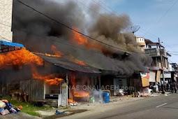 Kebakaran di Abdya, Lima Ruko Ludes Dilalap Si Jago Merah