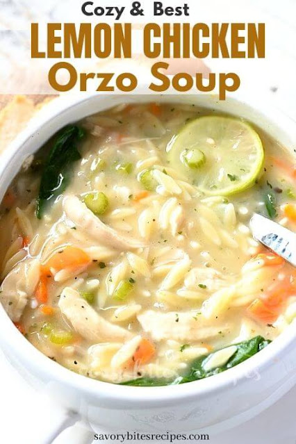 cozy and best lemon chicken orzo soup