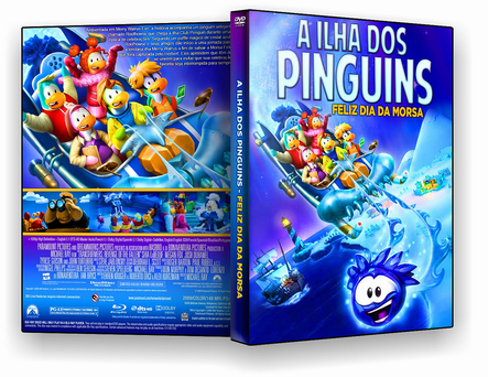 DVD A ILHA DOS PINGUINS FELIZ DIA DA MORSA - ISO