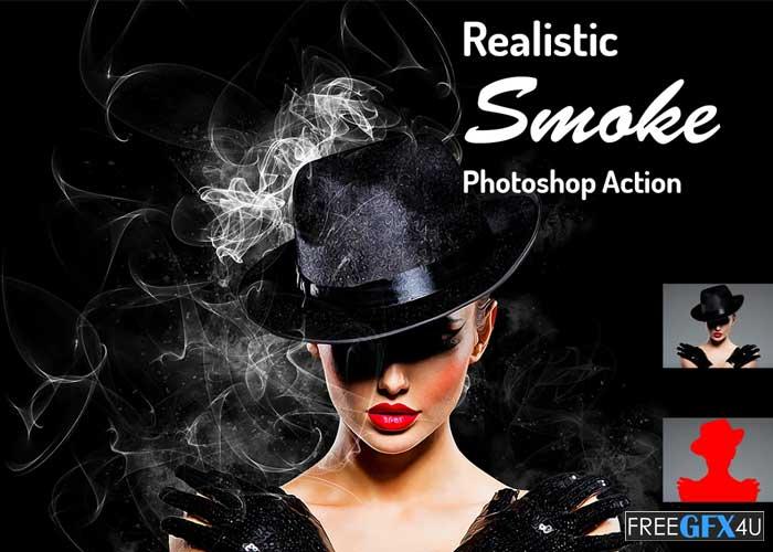 Realistic Smoke Photoshop Action