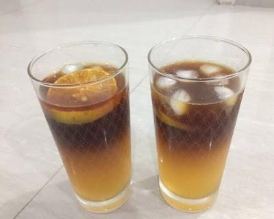 Es kopi jeruk yang nikmat