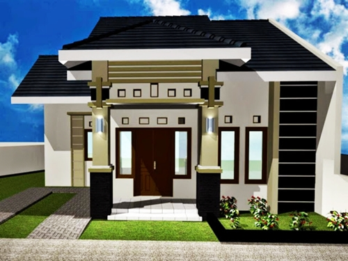 Simple minimalist 1-storey house