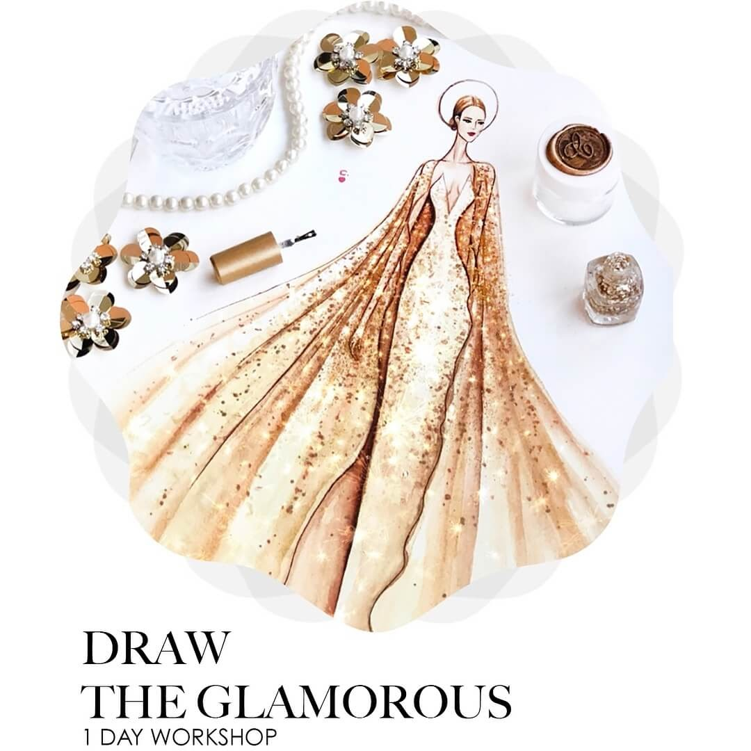 11-Draw-the-Glamorous-Clayrene-Chan-Drawings-of-Lavish-Flowing-Dress-Designs-www-designstack-co