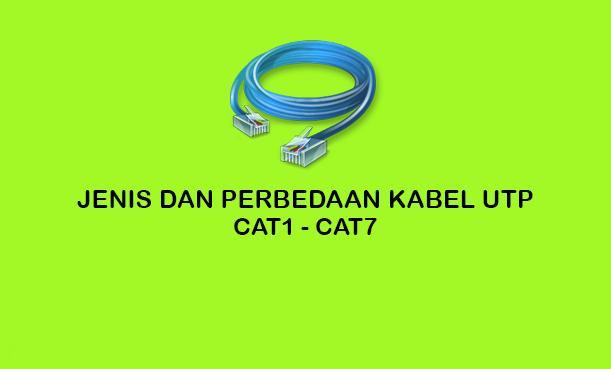 Jenis dan Perbedaan Kabel UTP Cat1 sampai Cat7