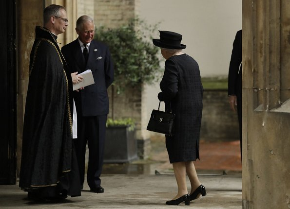 Queen Elizabeth, Prince Philip, Prince Charles, Countess Sophie of Wessex and Princess Anne attended the funeral of the Countess Mountbatten of Burma