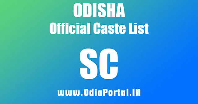 List of Schedule Caste (ଅନୁସୂଚିତ ଜାତି) Communities and Sub-Castes, sc caste list, sub caste list,