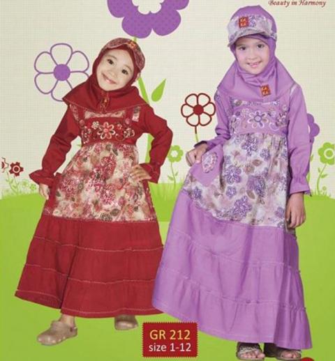 contoh baju muslim anak keke