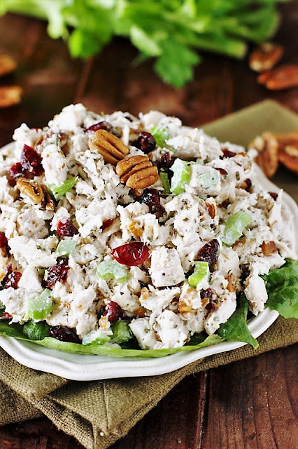 Tarragon Chicken Salad with Dried Cranberries and Pecans Image