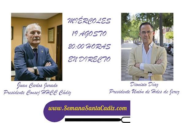 Hoy los presidentes del Consejo de Hermandades y Cofradías de Cádiz y la Unión de Hermandades de Jerez en directo
