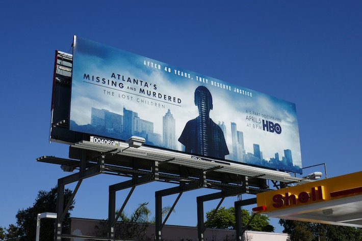 Atlantas Missing Murdered Lost Children series launch billboard