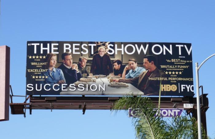 Succession season 2 FYC billboard