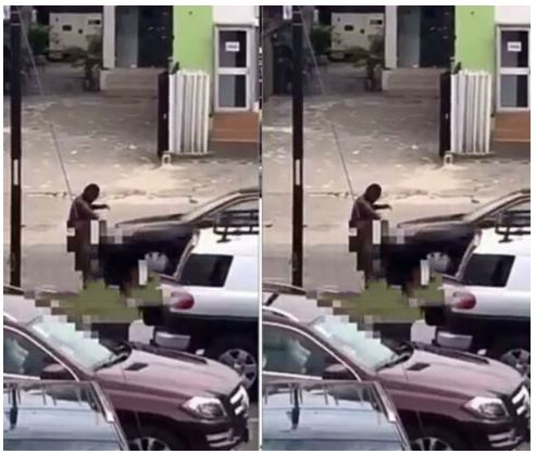 Alleged Yahoo Boy Reportedly Runs Mad For Minutes In Lekki (Photos)