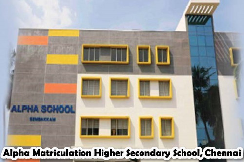 Alpha Matriculation Higher Secondary School, Chennai