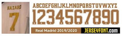 Real Madrid Font 2019-2020