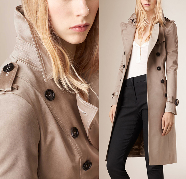 burberry sale outlet online a1ey  Cotton Sateen Trench Coat