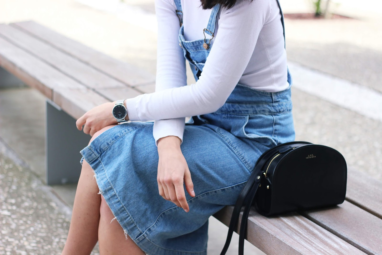 AXEL ARIGATO SNEAKERS, DENIM DRESS