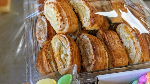 Pastries sometimes available on weekends or holidays