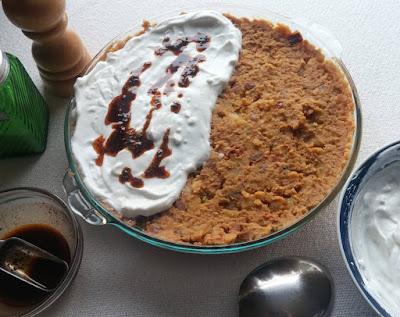 Turkish Lentil & Potato Salad with Garlic-Yogurt and Minted Oil