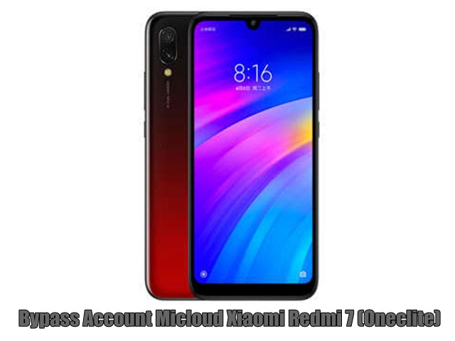 Bypass Account Micloud Xiaomi Redmi 7 (Oneclite)