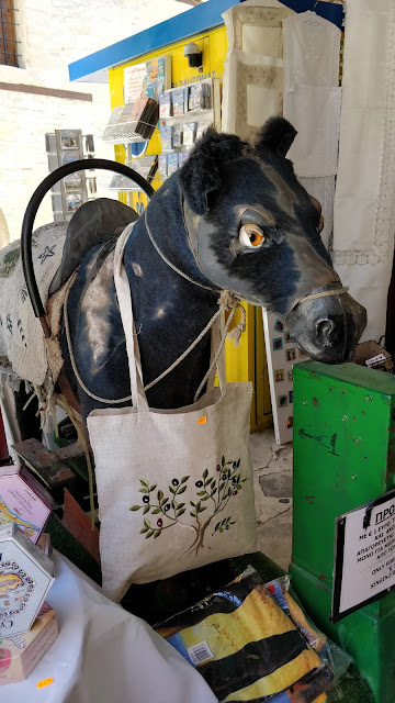 shabby chic vintage donkey ride on, Omodos Cyprus