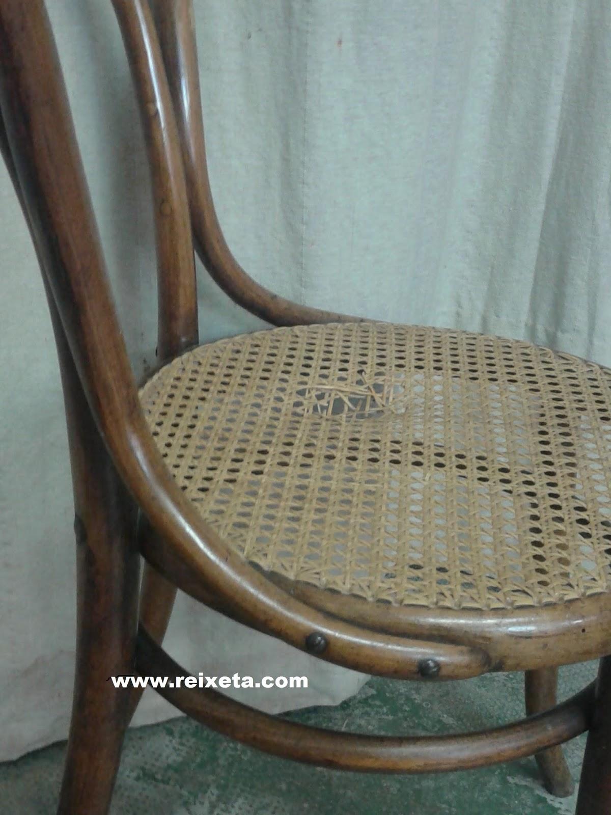 Reixeta i restauraci cadira n 30 de jacob josef kohn - Cadira barcelona ...