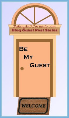 Be My Guest, guest post blogging series. | Graphic created by and property of www.BakingInATornado.com | #blogging #MyGraphics