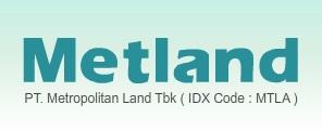 Lowongan Kerja PT Metropolitan Land Tbk