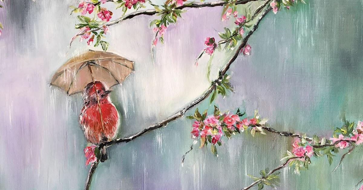 картинки к стихотворению фета весенний дождь моей
