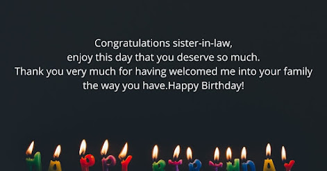 Birthday Wishes for Sister-in-law